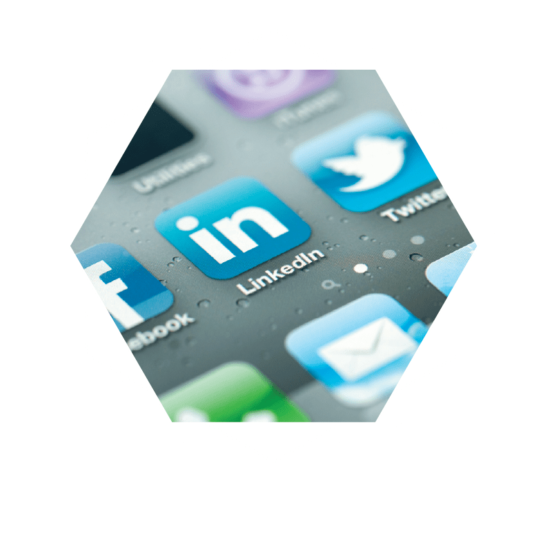 Social Media Marketing Icons - Facebook, Linkedin, Twitter, Youtube